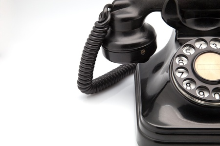 bakelite: made of bakelite black telephone