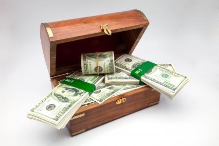 tresure: tresure chest full of money