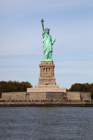 The Lady Liberty in a radiant summer day Stock Photo