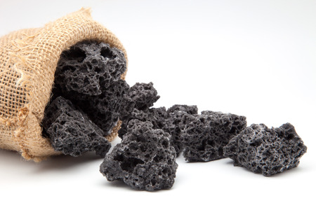 coal sweet made from sugar sack photo
