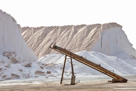 desalination: salt mine and conveyor industry