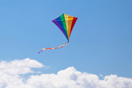 kite flying in the sky colors photo