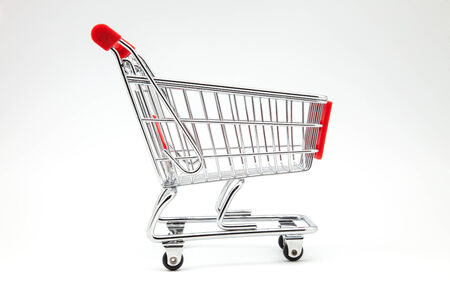 downgrade: the carts supermarket on white background