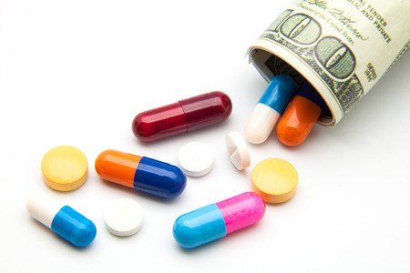 food science: Money rolled up with Pills