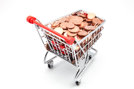 shopping cart full of coins photo