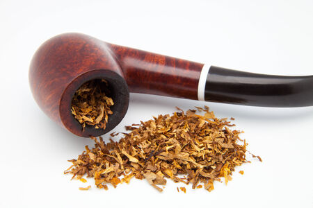 unsanitary: tobacco pipe on a white background