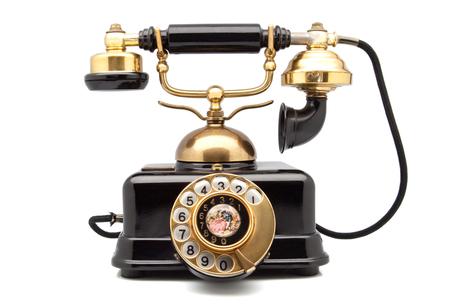 telefono antico: telefono retr� con parti dorate