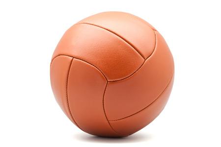 白い背景の上のフットボール 写真素材