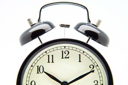 resonating: clock of campaign on white background Stock Photo