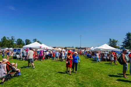 Comox Valley~Vancouver Island,BC, Canada, July 1st 2017 Canada Day Celebrations in Courtenay~Vancouver Island,BC, Canada