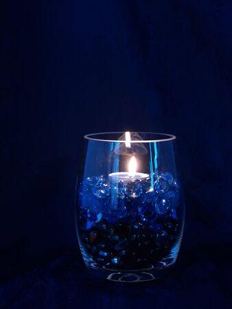 Blue Candle Vase