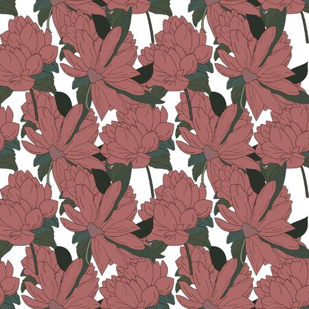 Romantic Flower Background seamless floral pattern
