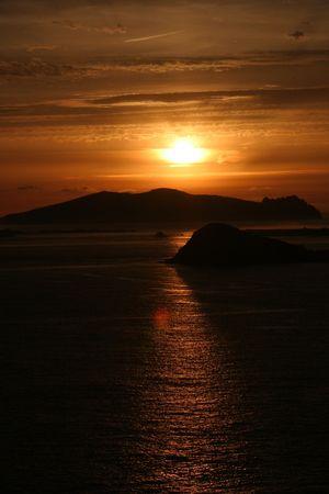 Sunset Stockfoto