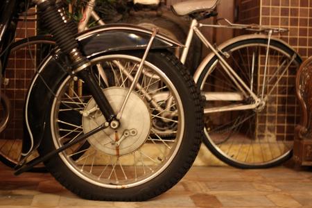 Antique Chopper Side View, Tire & Suspension.