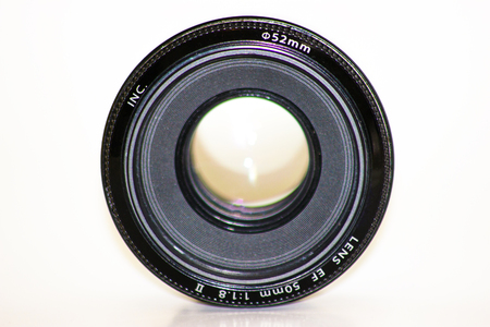 Camera Photo Lens, Old and Used Camera Lens, Isolated Camera Lens Stock Photo