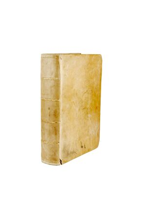 Isolated White Background, Antique Book Side View.