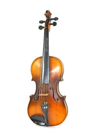 Antique Violin. Isolated White Background Antique Violin.