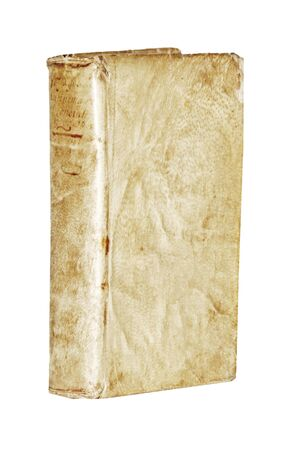 Istanbul, Taksim  Turkey - 08.12.2019: Isolated White Background, Antique Book Side View.