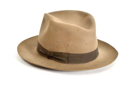 Old isolated white background hat