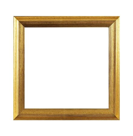 Isolated Photo Frame, Wooden Antique Photo Frame.