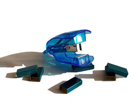 office stapler: Staples all around Stock Photo