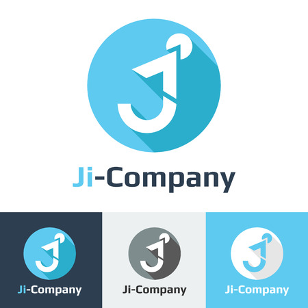 j: Vector flat minimalistic it or design studio icon set Illustration