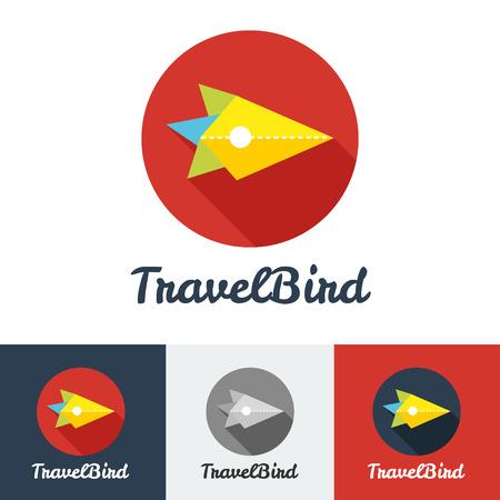 logo voyage: Vecteur appartement moderne société Voyage créatif minimaliste logo ensemble