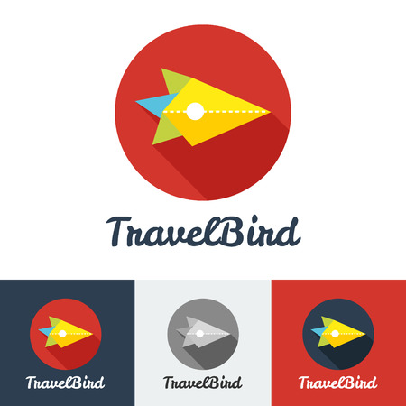 travel concept: Vector modern flat creative travel company minimalistic logo set