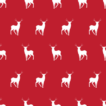 red deer: Vector simple red deer minimalistic silhouette seamless pattern
