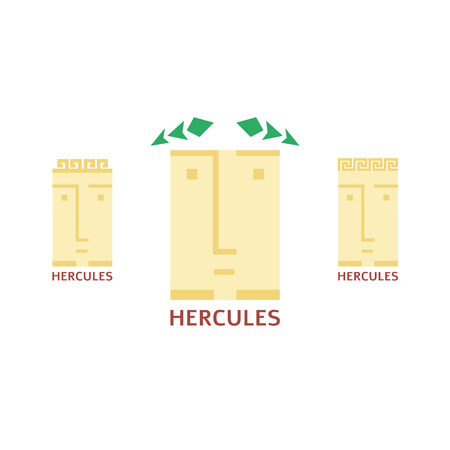 logotypes: Vector simple minimalistic hercules head logotypes set Illustration