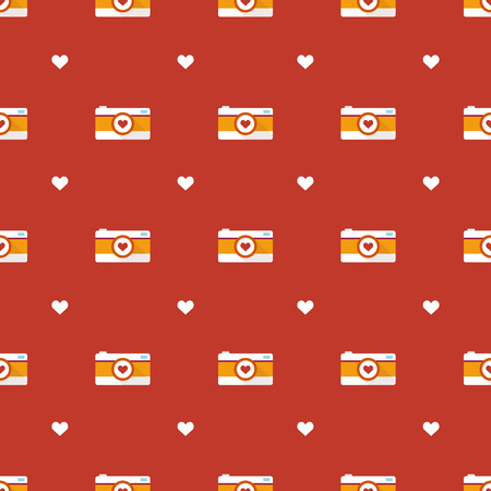 Vector simple flat hipster cameras seamless pattern Vector