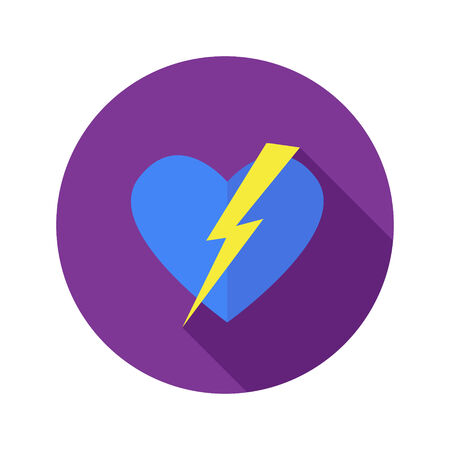 Vector simple flat modern round heart icon Vector
