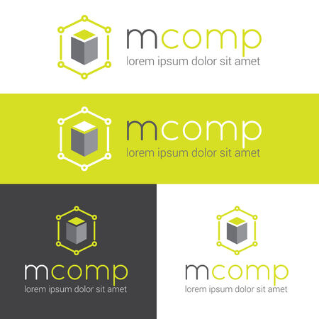 Vector modern  for web studio or finance company set