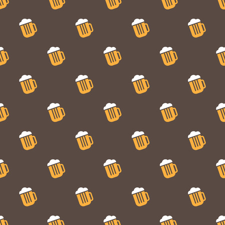 Vector simple bright beer mug seamless pattern Vector