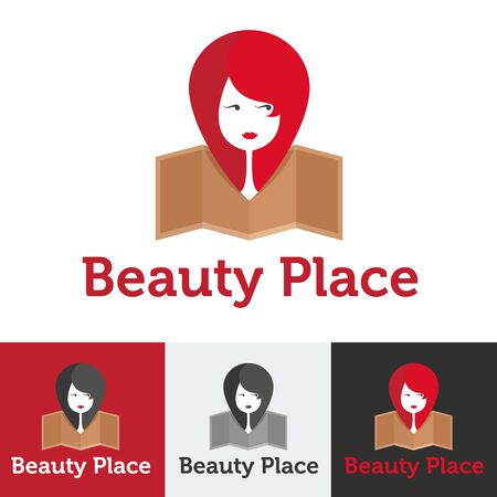 beauty shop: Vector flat modern beauty shop, beauty or spa salon