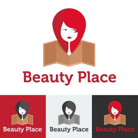 beauty shop: Vector plana moderno sal�n de belleza, la belleza o el sal�n de spa