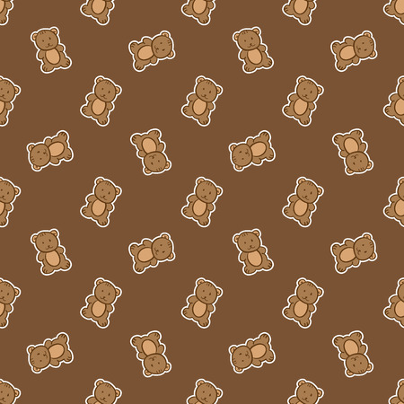 nappies: Vector hand drawn doodle bear toy seamless pattern Illustration