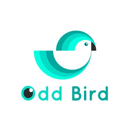 Vector modern simple blue bird template Vector