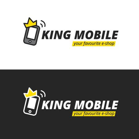 eshop: Vector funny simple mobile  . E-shop