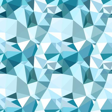 poligonos: Vector de moda patrón transparente de baja poli. Fondo azul del invierno abstracto poligonal Vectores
