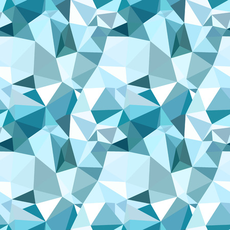 Vector trendy low poly seamless pattern. Blue winter polygonal abstract background