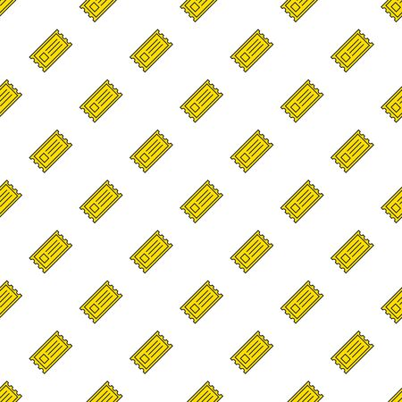 movie ticket: Vector funny yellow cinema tickets seamless pattern