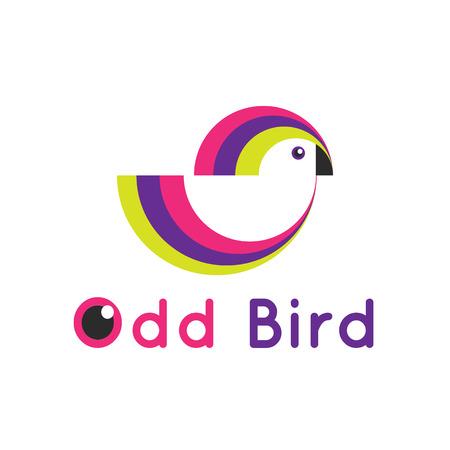 simple logo: Vector bright simple bird logo. Creative logotype. Illustration