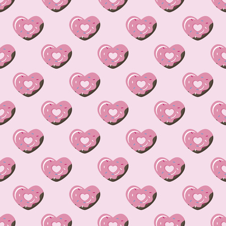 simple store: Vector cute simple geometric heart donut seamless pattern