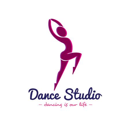 Vector minimalistischen Tanzstudio. Dancer
