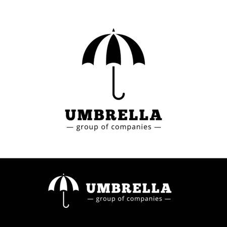 gamp: Vector minimalistic black umbrella . Simple umbrella