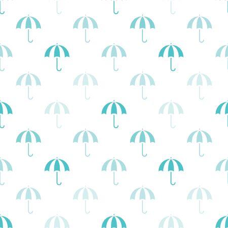 gamp: Vector vintage umbrellas seamless pattern. Cute umbrella background Illustration