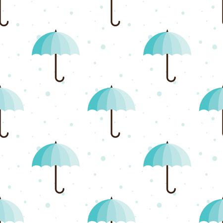 paper umbrella: Vector vintage umbrellas seamless pattern. Cute umbrella background Illustration