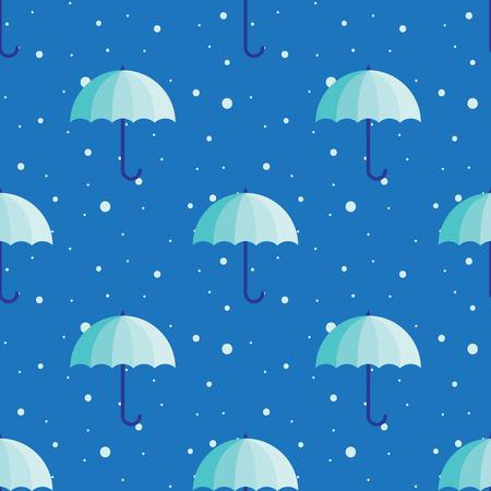 gamp: Vector vintage umbrellas seamless pattern. Cute winter umbrella background Illustration