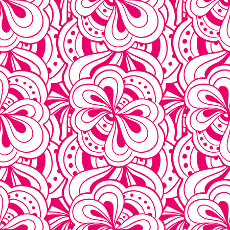 abstract pink: Vector hand drawn abstract pink seamless pattern
